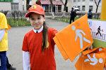 В Астане пешеходов вооружили светоотражающими флажками