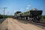 Грузовые вагоны, архивное фото