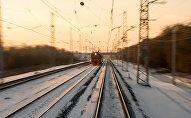 Поезд в зимнее время