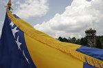 Флаг Боснии и Герцеговины, архивное фото