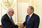 Нурсултан Назарбаев встретился с народным артистом Юрием Померанцевым