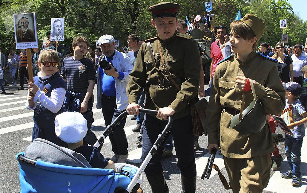 Бессмертный полк в Алматы