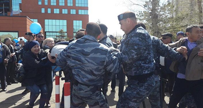 Астанада саяси тұтқындарға қолдау ретінде митинг өтті