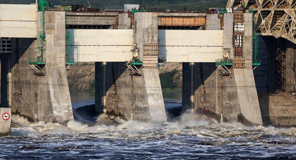Строительство Нижне-Бурейской ГЭС, архивное фото