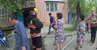 Пожар произошел в девятиэтажном доме в Таразе, эвакуированы 38 человек