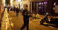 Оперативные службы на месте нападения в Париже