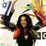 Дана Интернэйшл празднует победу на Евровидении в 1998 году