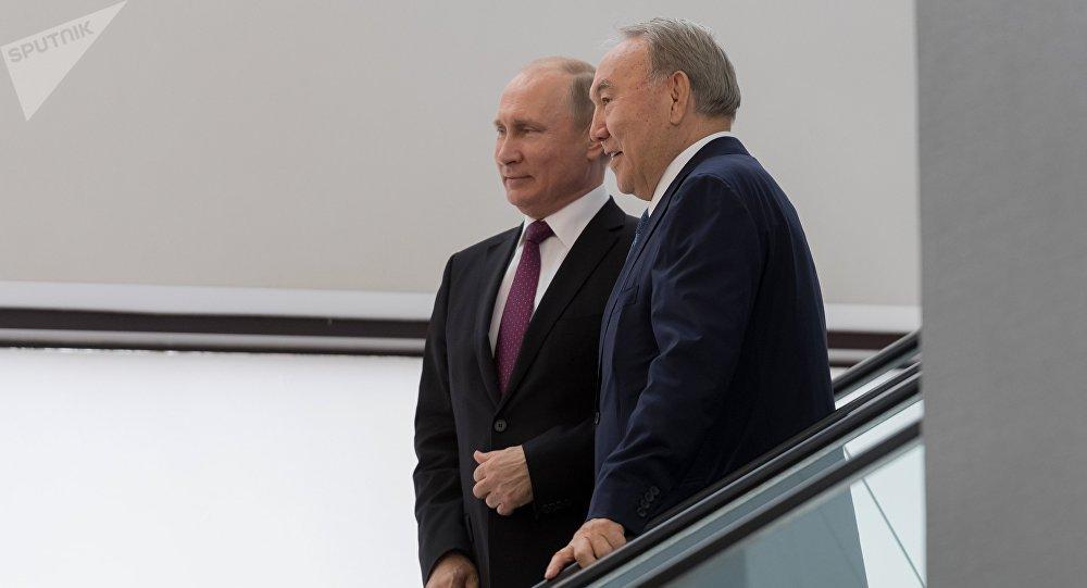 Ресей президенті Владимир Путин мен Қазақстан президенті Нұрсұлтан Назарбаев