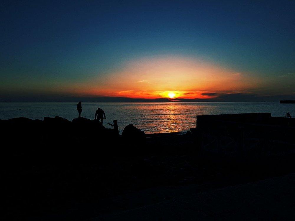 Закат на Черном море.