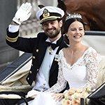 София Хелквист и принц Швеции Карл Филипп