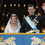 Принцесса Астурии Летиция Ортис и ее муж Испанский кронпринц Фелипе