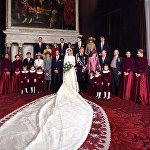 Голландский наследный принц Виллем-Александр и его невеста Максима
