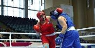 Чемпионка мира Ляззат Кунгейбаева на чемпионате Казахстана по боксу среди женщин