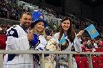 Казахстанские болельщики на чемпионате мира в Будапеште