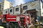 Пожар в торговом доме Триумф в Кокшетау
