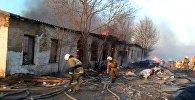 Крупный пожар произошел в цеху в Кокшетау