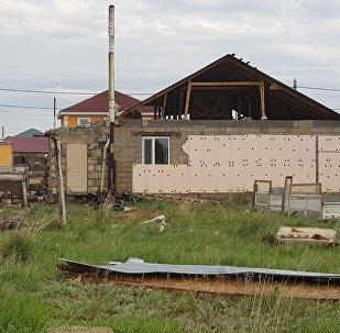 Целиноградский район в Акмолинской области после урагана