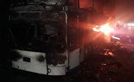 Алматы облысында жолаушылар автобусы өртенді