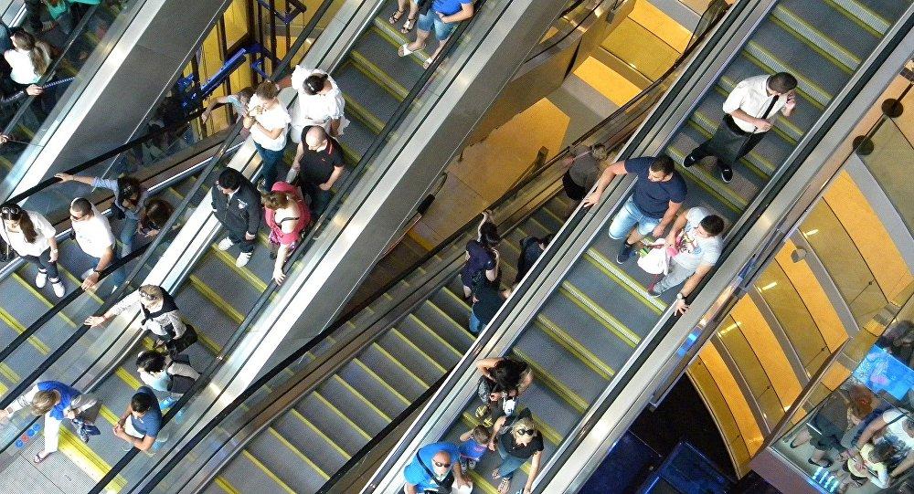 Эскалатор, архивное фото