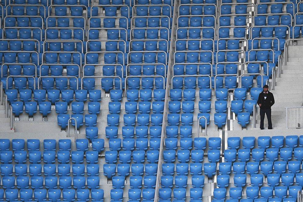 Трибуны на стадионе Волгоград Арена