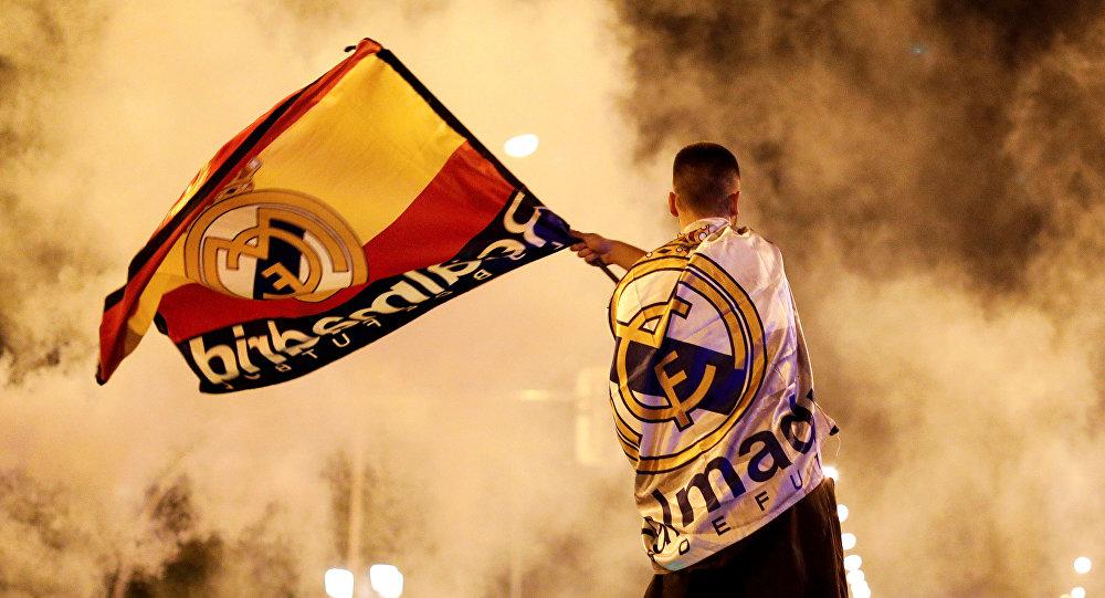 Фанаты празднуют победу Реала в Лиге чемпионов