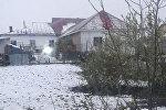 В Атбасаре выпал снег