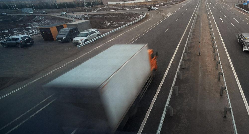 Открытие после реконструкции двух участков федеральной автомобильной дороги М-7 Волга