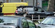 Полицейский на месте стрельбы в бельгийском Льеже