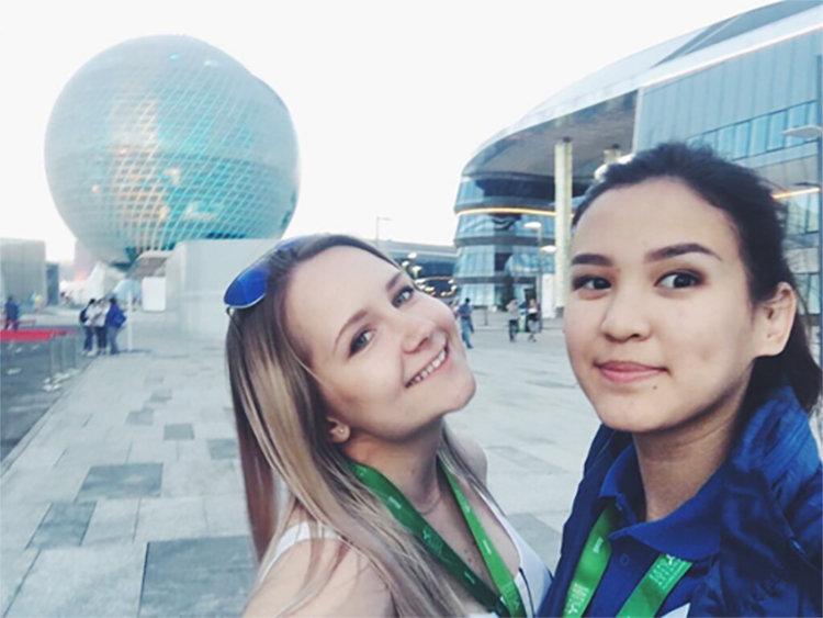 Волонтер ЧМ-2018 по футболу Ольга Юрина