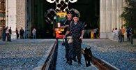 Вывоз ракеты-носителя на стартовую площадку космодрома Байконур
