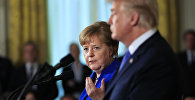 Ангела Меркель и Дональд Трамп, архивное фото