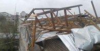 Последствия сильного ураган в Восточном Казахстане
