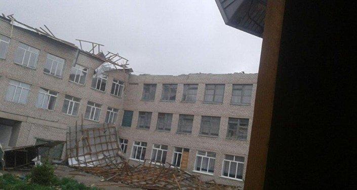 Последствия сильного урагана в Восточном Казахстане