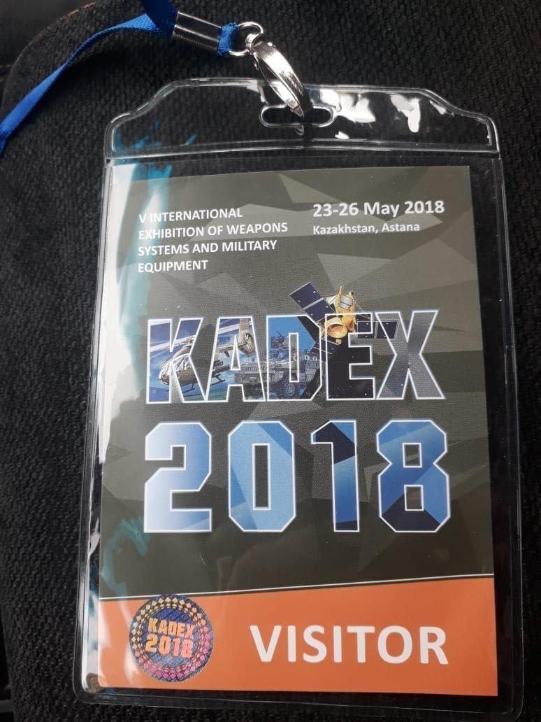 KADEX-те көз жұмған ер адамның бейджигі