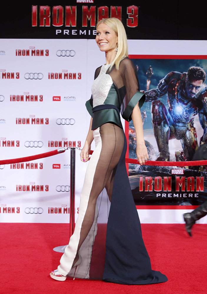 Гвинет Пэлтроу на премьере фильма Железный человек 3