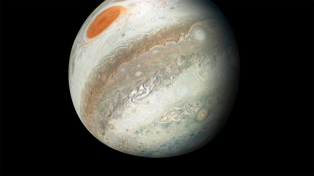 Юпитер, снимок сделан зондом Juno