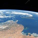 Берег Туниса, Сицилия и Мальта, снимок сделанный с борта МКС