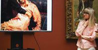 Демонстрация повреждений картины И. Репина Иван Грозный и сын его Иван 16 ноября 1581 года в Третьяковской галерее