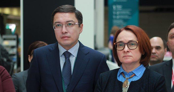 Данияр Акишев и Эльвира Набиуллина