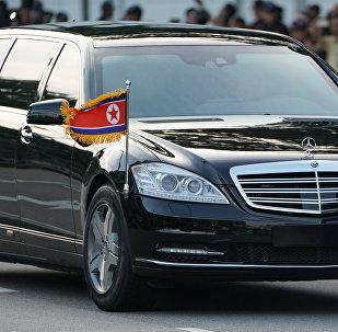 Кортеж главы КНДР Ким Чен Ына, архивное фото
