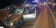 Mercedes на скорости сбил пешехода