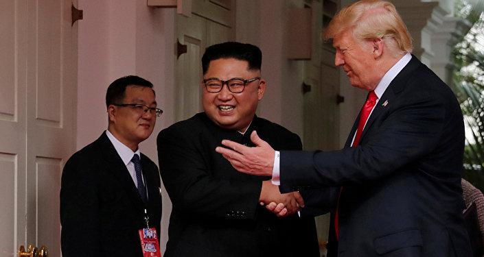 Дональд Трамп пен Ким Чен Ынның кездесуі
