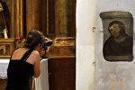 Фреска начала двадцатого столетия на евангелический сюжет Ecce Homo