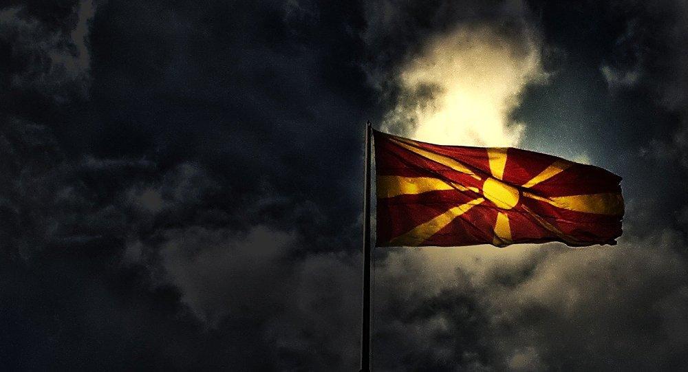 Флаг Македонии, иллюстративное фото