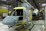Линия сборки на вертолетном заводе, архивное фото