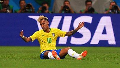 Неймар на матче Бразилия - Швейцария