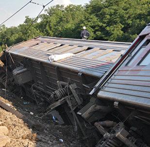 Крушение поезда, архивное фото