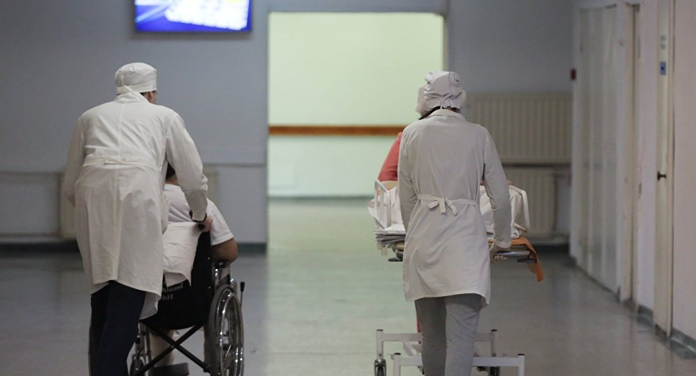 Госпитализация пациента, архивное фото
