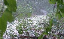 Дождь с градом, иллюстративное фото