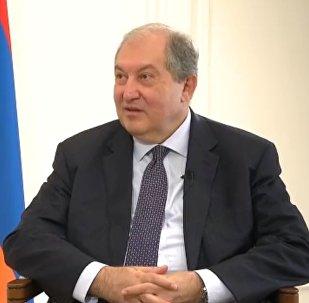 Президент Армении Армен Саркисян дал интервью Телерадиокомплексу Президента РК